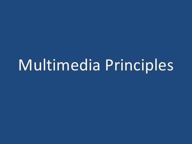 Multimedia Principles