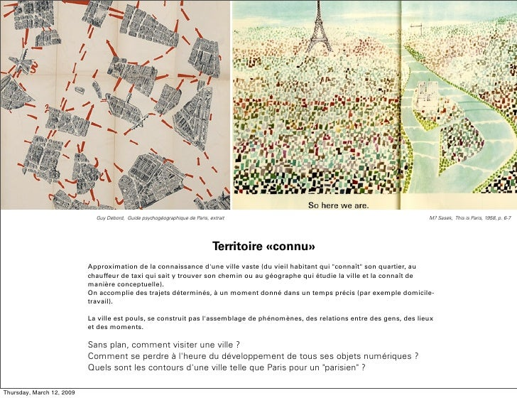 Guy Debord, Guide psychogéographique de Paris, extrait                                              M? Sasek, This is Pari...