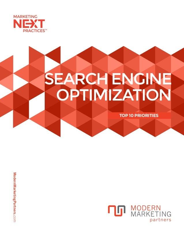ModernMarketingPartners.com SEARCH ENGINE OPTIMIZATION TOP 10 PRIORITIES