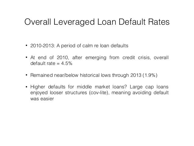 Leveraged Loan Recoveries Middle Market Bests Large Cap