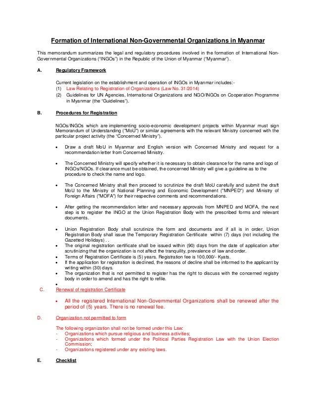 Myanmar formation of ngo in myanmar uformation of international non governmental organizations in myanmar this memorandum summarizes the legal and regulatory yelopaper Choice Image