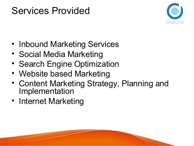 Maayaa Marketing Services - inbound content marketing process and strategy - Online Presence Optimized Process Slide 2