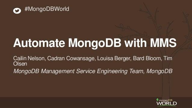 MongoDB Management Service Engineering Team, MongoDB Cailin Nelson, Cadran Cowansage, Louisa Berger, Bard Bloom, Tim Olsen...