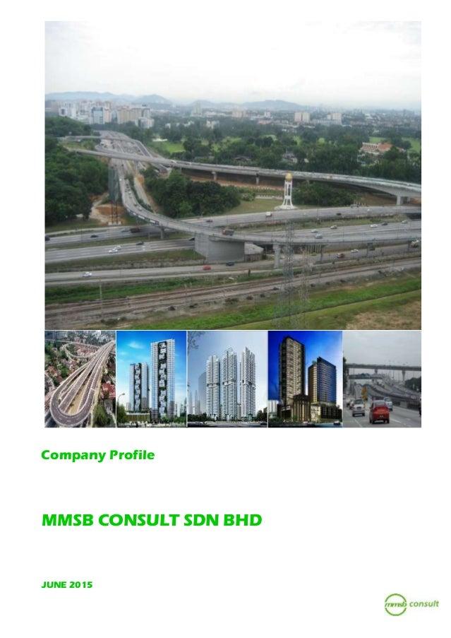 Company Profile MMSB CONSULT SDN BHD JUNE 2015