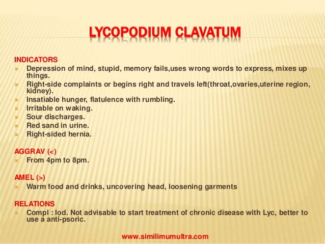 Lycopodium: Homeopathic Medicine -Tips For Beginners - YouTube