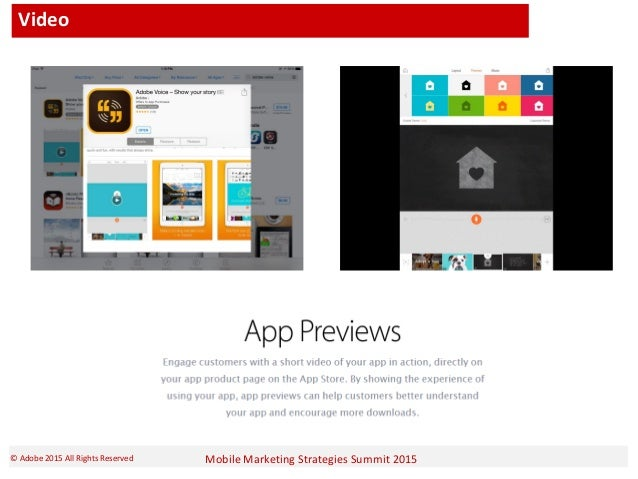 Mobile Marketing Strategies Summit 2015© Adobe 2015 All Rights Reserved Video