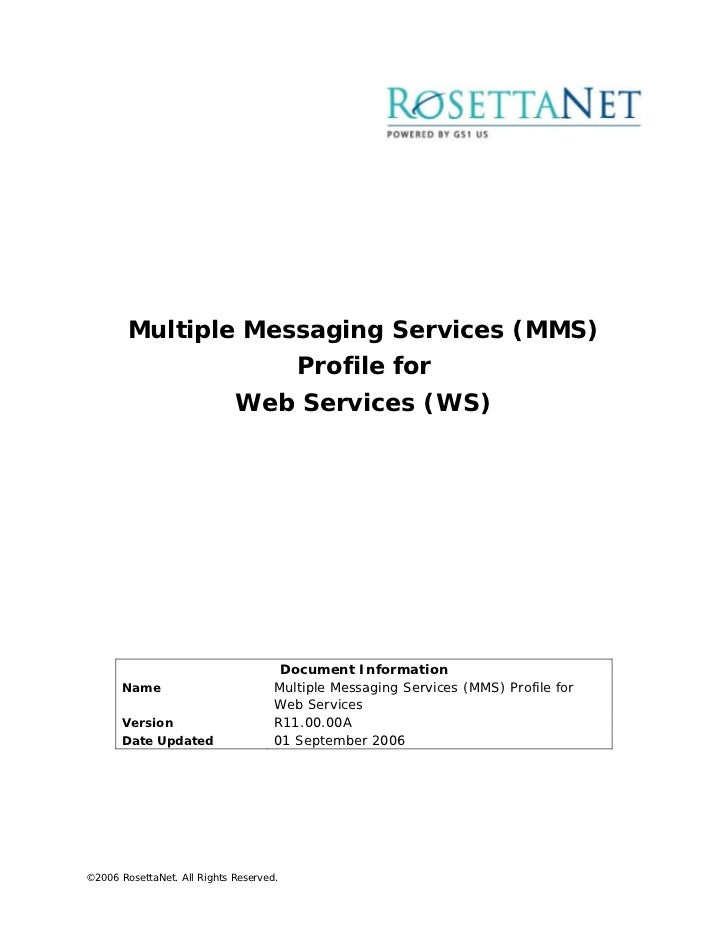 Multiple Messaging Services (MMS)                                         Profile for                             Web Serv...