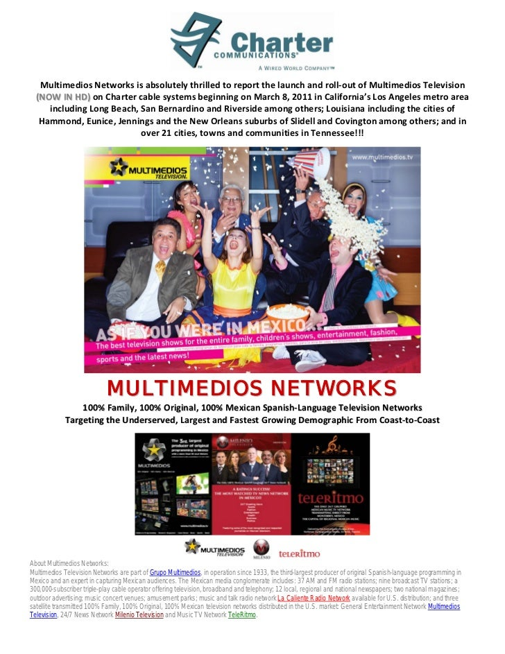 Multimedios Networks is absolutely thrilled to report the launch and roll-out of Multimedios Television  (NOW IN HD) on Ch...