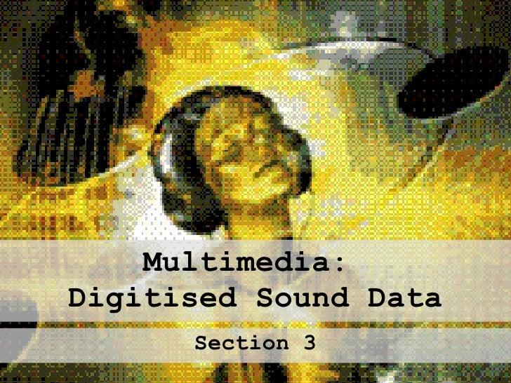 Multimedia:  Digitised Sound Data Section 3