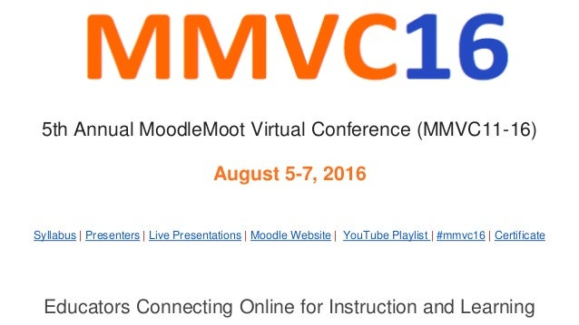 Educators Connecting Online for Instruction and Learning Syllabus | Presenters | Live Presentations | Moodle Website | You...