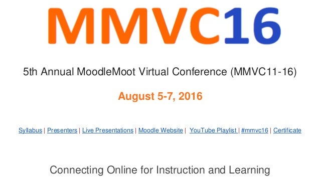 Connecting Online for Instruction and Learning Syllabus | Presenters | Live Presentations | Moodle Website | YouTube Playl...