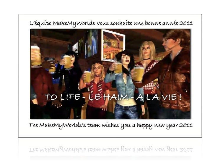 MakeMyWorlds Card for the new year 2011