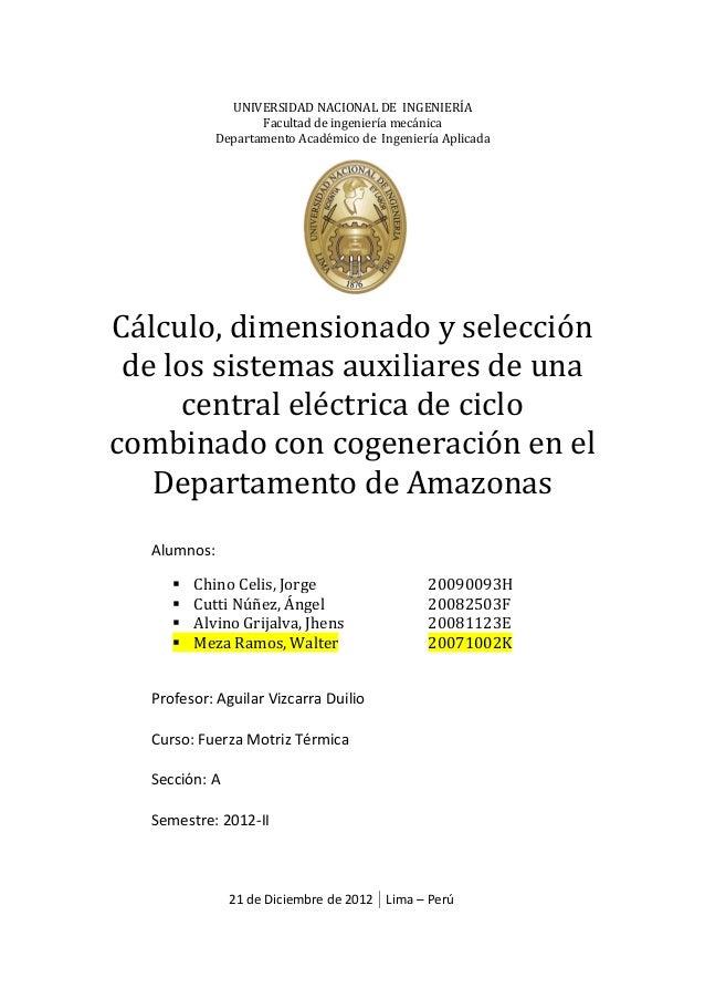 UNIVERSIDAD NACIONAL DE INGENIERÍA Facultad de ingeniería mecánica Departamento Académico de Ingeniería Aplicada Cálculo, ...