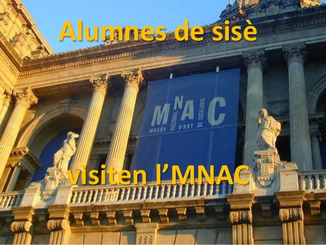 Alumnes de sisèvisiten l'MNAC