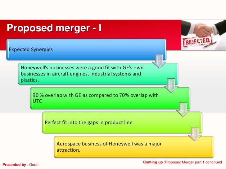 Proposed merger - I   Expected Synergies          Honeywell's businesses were a good fit with GE's own          businesses...