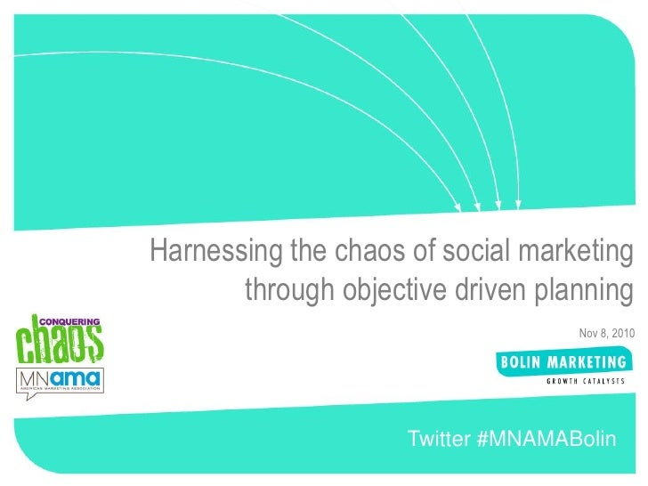 1Harnessing the chaos of social marketing       through objective driven planning                                    Nov 8...