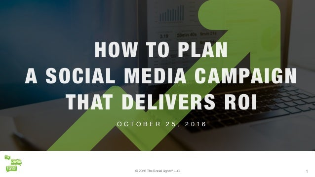 © 2016 The Social Lights® LLC 1 O C T O B E R 2 5 , 2 0 1 6 HOW TO PLAN A SOCIAL MEDIA CAMPAIGN THAT DELIVERS ROI © 2016 T...