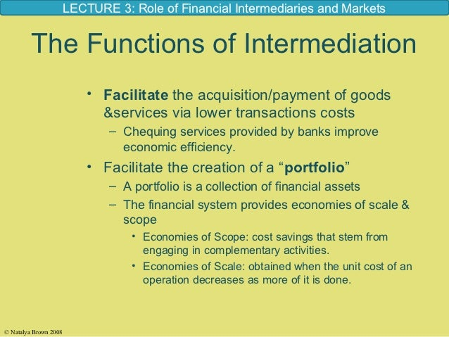 The Role of Financial Intermediaries and financial Market (By Badhon)