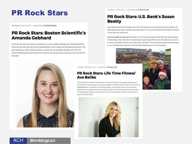 ACHACH PR Rock Stars #mnblogcon