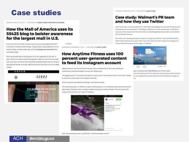 ACHACH Case studies #mnblogcon