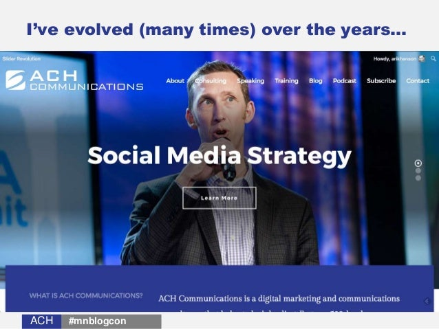 ACHACH I've evolved (many times) over the years… #mnblogcon