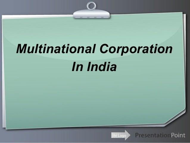 Multinational Corporation In India  Ihr Logo