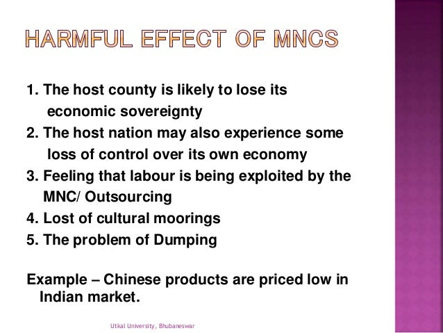 negative effects of mncs