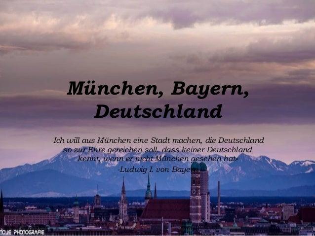 München, Bayern, Deutschland «Ich will aus München eine Stadt machen, die Deutschland so zur Ehre gereichen soll, dass kei...