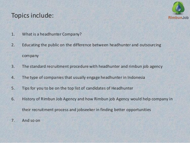 how to be a headhunter