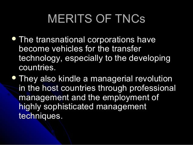 what are some of the criticisms of mncs operating in developing countries The role &impact of multinational corporations (mncs) in malawi  enables developing countries to buy imports)this is easy in the sense that the subsidiaries in a host country are able to.