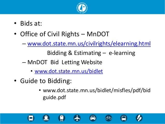 Mn dot bidding and estimating 4 16-13