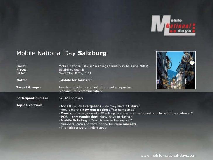 Mobile National Day  Salzburg l Event:   Mobile National Day in Salzburg (annually in AT since 2008) Place: Salzburg, Aust...