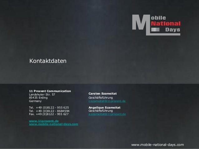 Kontaktdaten11 Prozent CommunicationLandshuter Str. 57             Carsten Szameitat85435 Erding                   Geschäf...