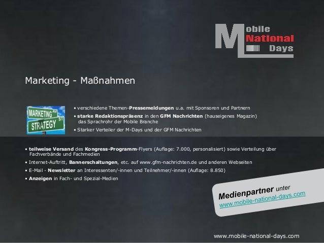 Marketing - Maßnahmen                    • verschiedene Themen-Pressemeldungen u.a. mit Sponsoren und Partnern            ...