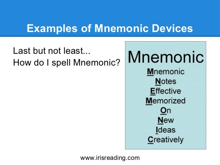 What is a mnemonic device?