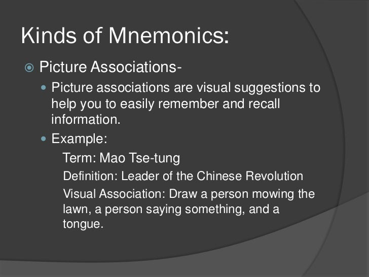 visual mnemonics essay This article helps you create rich mnemonics, and code information reliably and  effectively, so that you can remember things better.