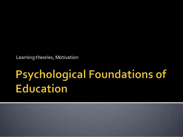 Learning theories, Motivation