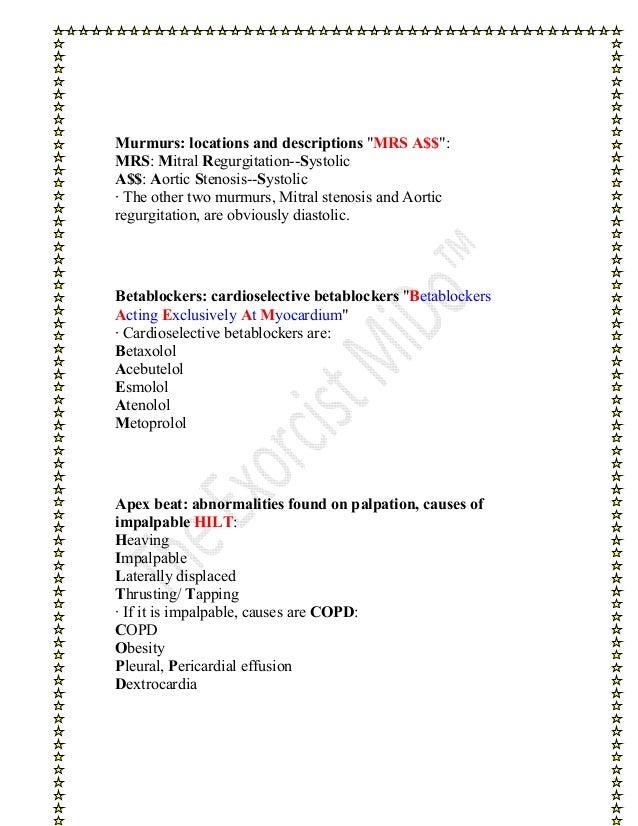 Pulmonary Embolism Mnemonic 84182