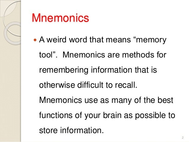 essay mnemonics Free flashcards to help memorize facts about  other activities to help include hangman, crossword, word scramble, games, matching, quizes, and tests.