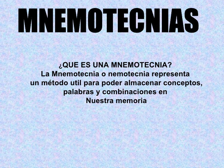 Mnemotecnias