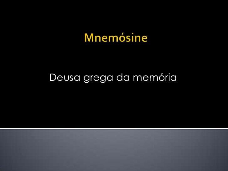 Deusa grega da memória
