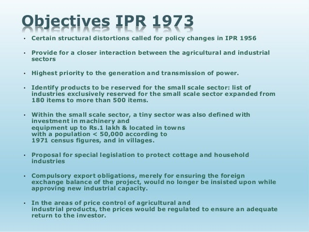 industrial policy objectives