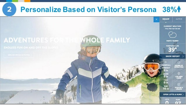 @Evergage § 38% conversion lift Personalize Based on Visitor's Persona 38%