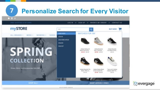 @Evergage Personalize Search for Every Visitor