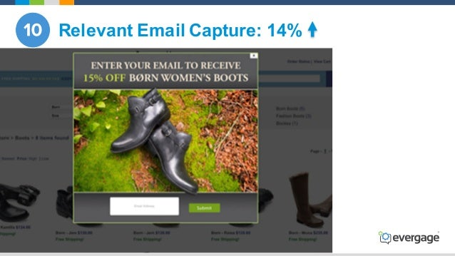 @Evergage Relevant Email Capture: 14%
