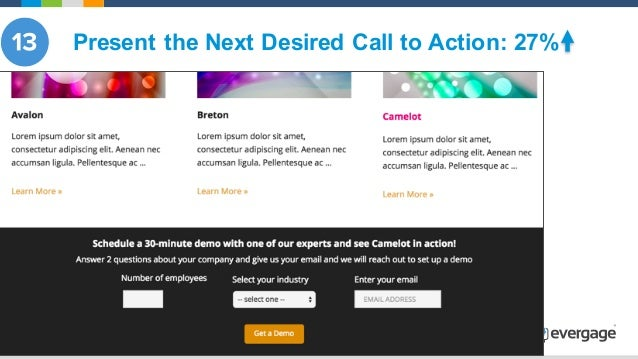 @Evergage Present the Next Desired Call to Action: 27%