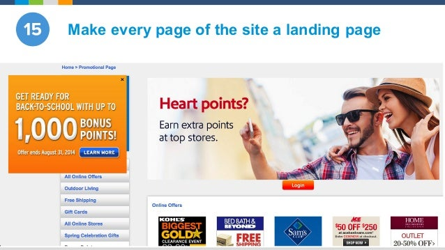 @Evergage Make every page of the site a landing page