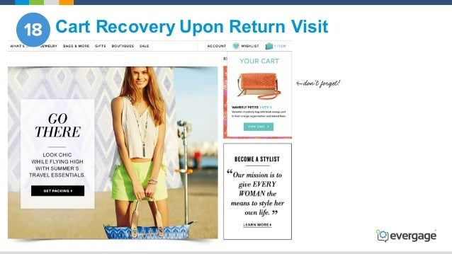 @Evergage Cart Recovery Upon Return Visit