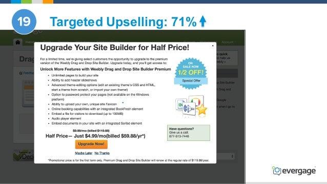 @Evergage Targeted Upselling: 71%