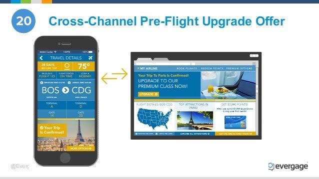 @Evergage Cross-Channel Pre-Flight Upgrade Offer